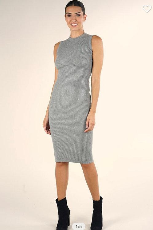 Sleeveless knit sweater dress