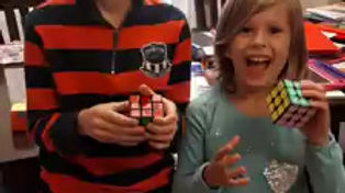 Brayden and Ciara just learned how to sove the Rubik's Cube!