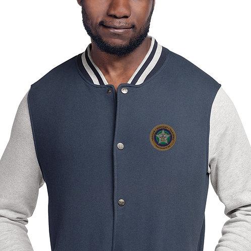VLEOA Embroidered Champion Bomber Jacket
