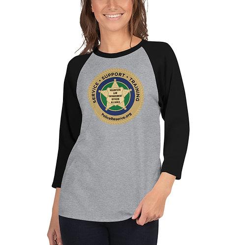VLEOA Unisex 3/4 sleeve raglan shirt