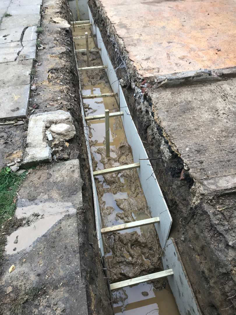 Footings Shuttered