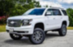 White Rocky Ridge Chevrolet Tahoe Lift Kit Package
