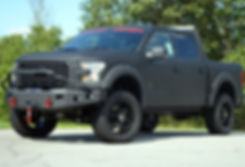 Black Stealth XL Rocky Ridge Ford F150 Coated Truck