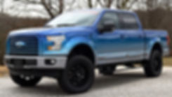 Blue Rocky Ridge Ford F150 with Roush Sueprcharger