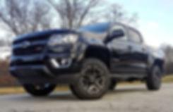 Black Rocky Ridge Chevrolet Colorado Lift Kit Package