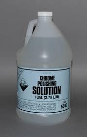 Chrome polishing solution