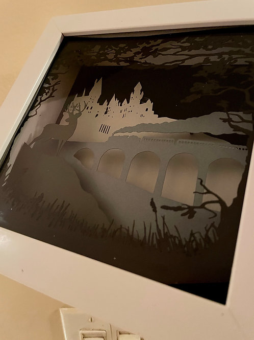 "Paper Art ""Arrival"" 6""x6"""