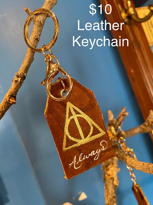 Real Leather keychain