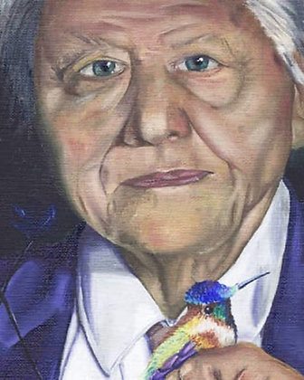 David Attenborough Original Portrait