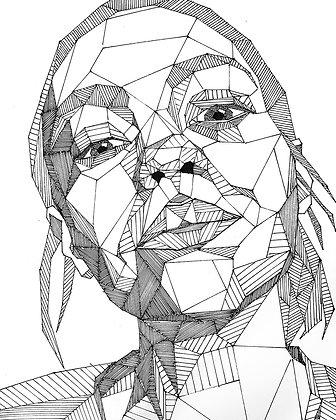 Custom Geo Pen Portrait