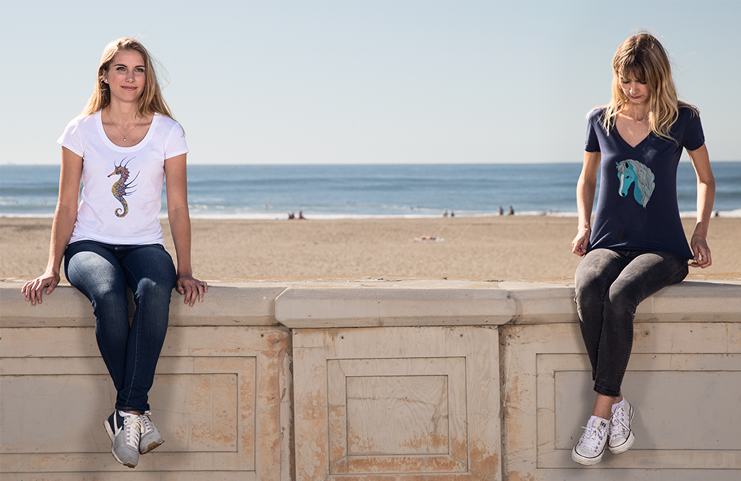 Womans relaxed fit and V Neck T-shirts