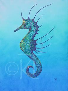 Aqua Seahorse