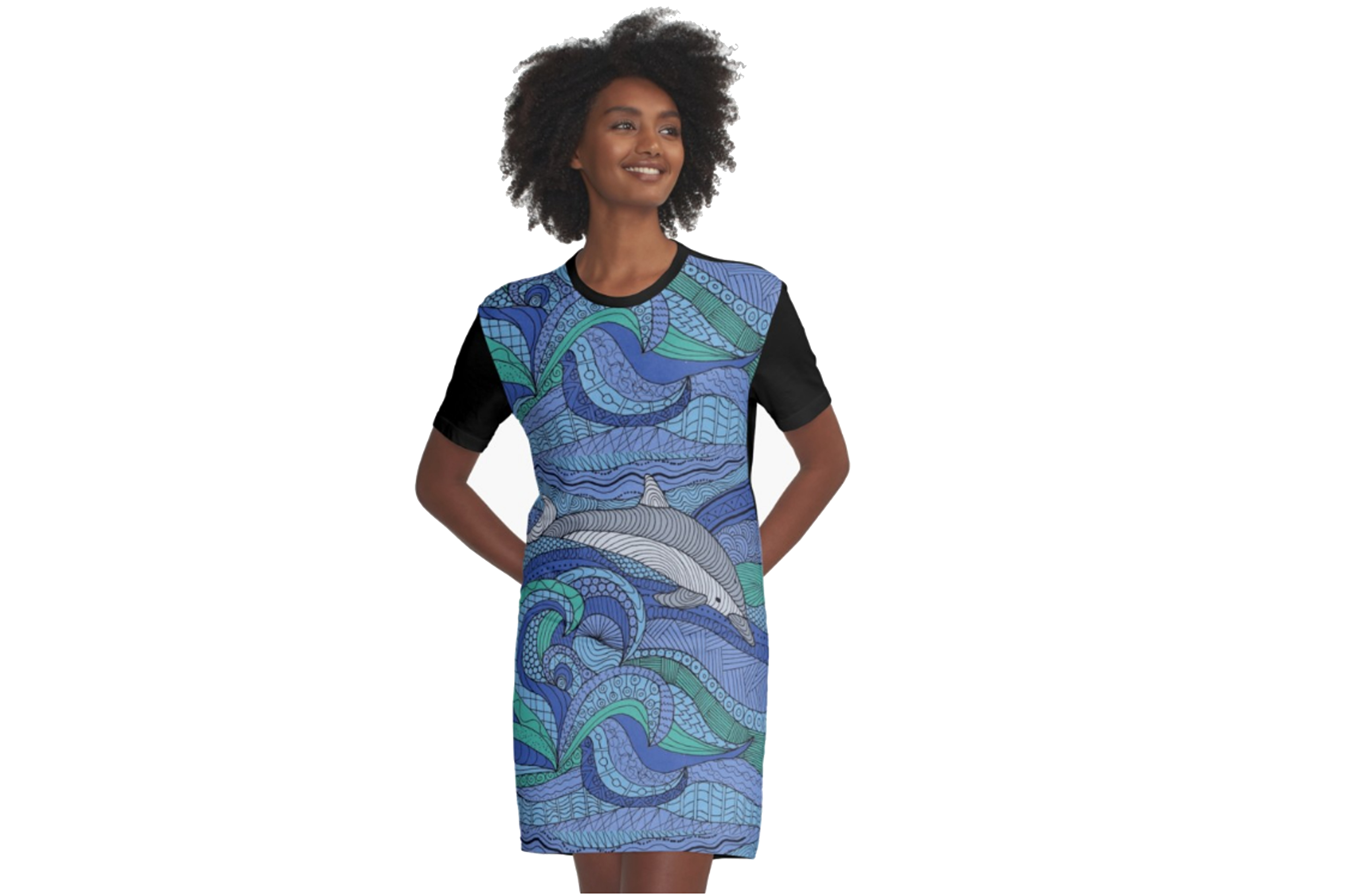 Women's graphic T-shirt dress
