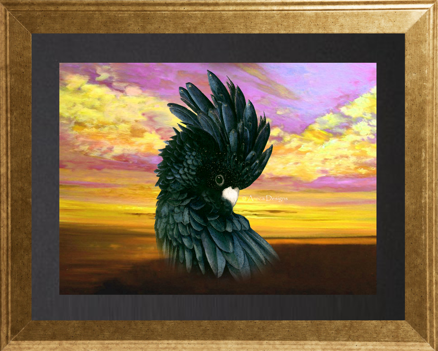 Black Cockatoo Sunset