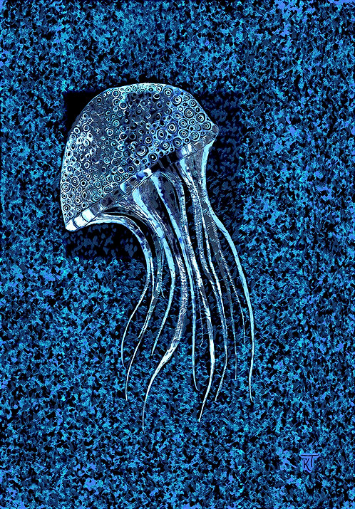 Metallic Blue Jellyfish