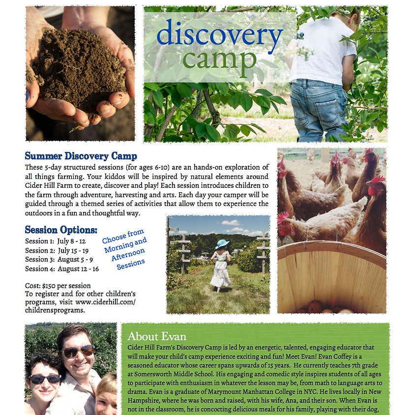 Meet Your Counselor! Discovery Farm Camp