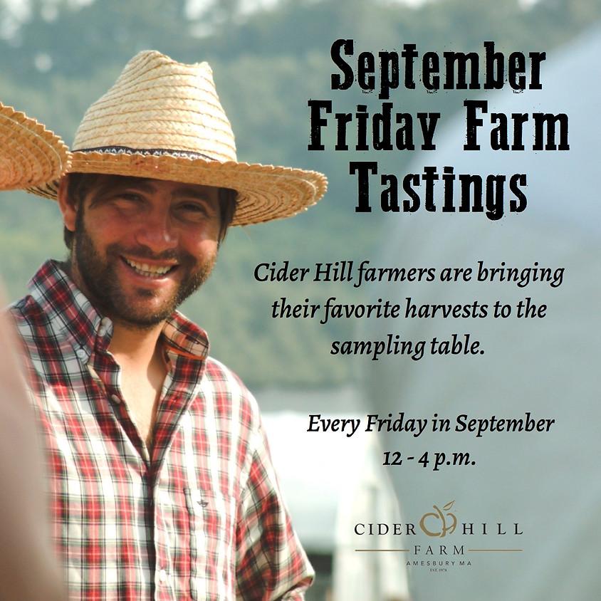 FREE - September Friday Farm Tastings