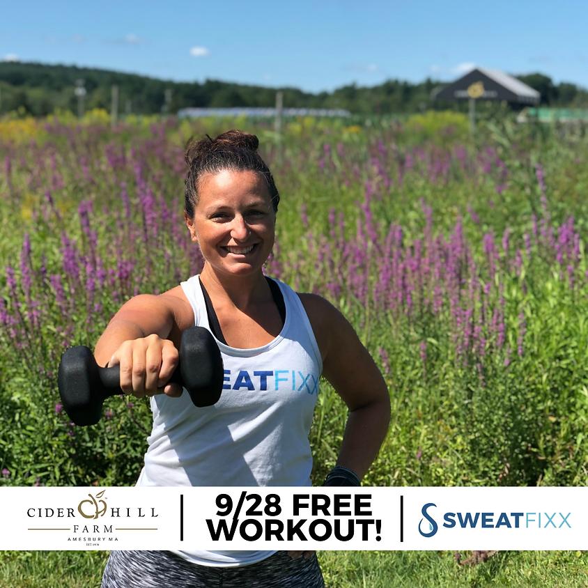 Free! Pop-Up with Sweat Fixx