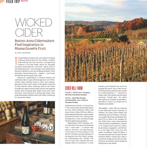 Cider Hill Cellars Featured in Cidercraft Magazine