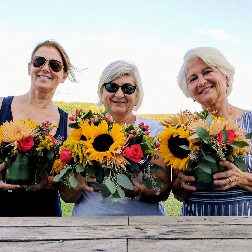 Fall Sunflowers & Apple Cider Donuts at Cider Hill Farm