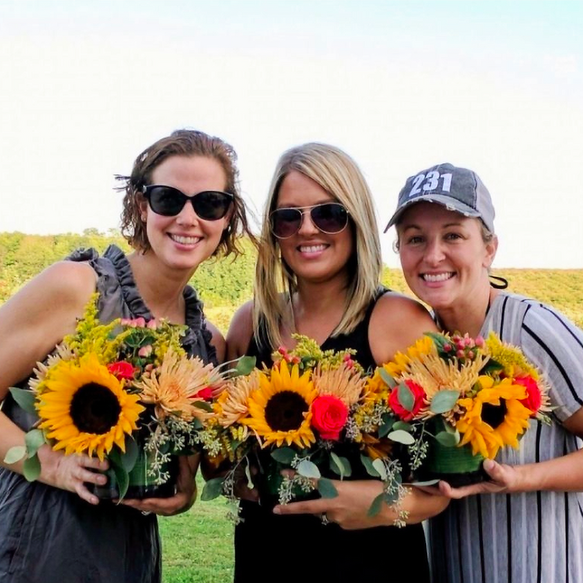 Fall Sunflowers at the Farm