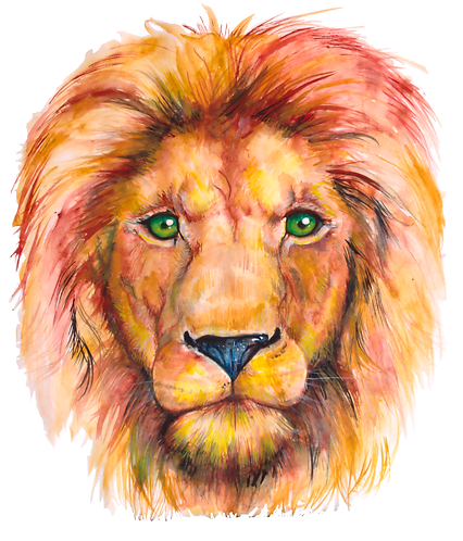 Print of Watercolor Aslan