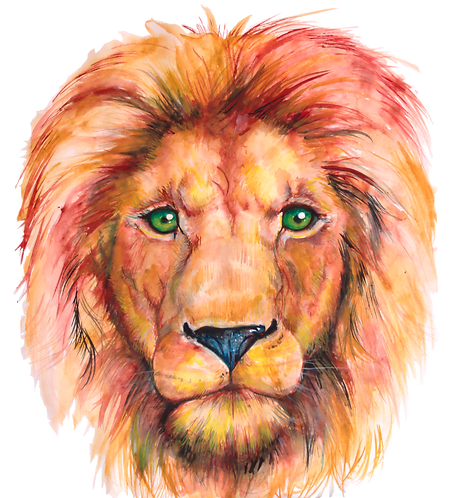 Original Watercolor Aslan
