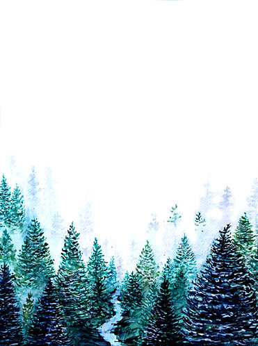 Print of Canadian Forest