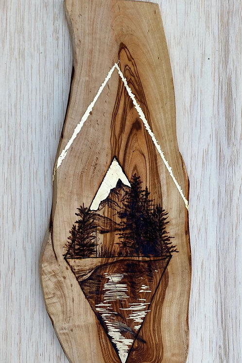 Rugged Mountain Hanging Piece