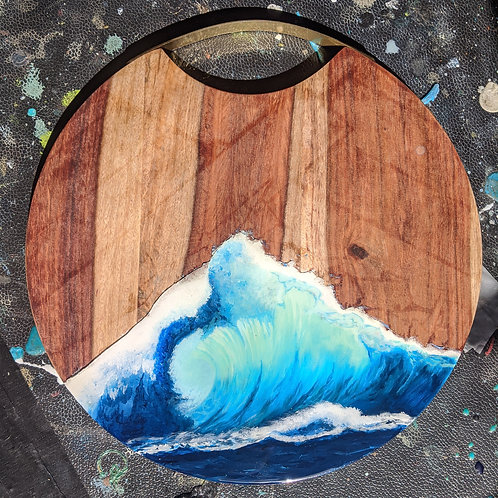 Ocean Wave Serving Board