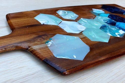 Reclaimed Resin Geometric Serving Board