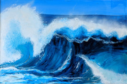 Life in waves, painting