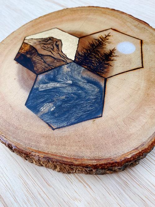 Geometric Rainier Live Edge Cutout