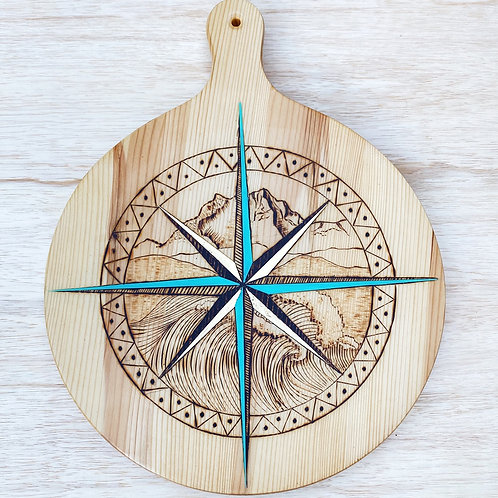 The Brothers' Compass Pizza Board