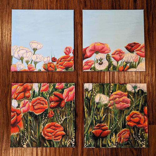 Four Flowers original