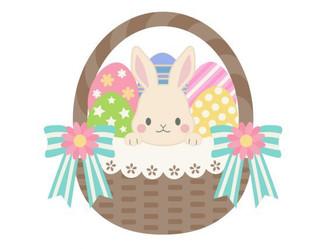Happy Easter!! Easter Eggを飾りました。