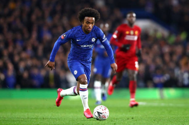 Willian, who broke the deadlock on the night, suffered an Achilles injury in Chelsea's FA Cup win over Liverpool. [Getty]