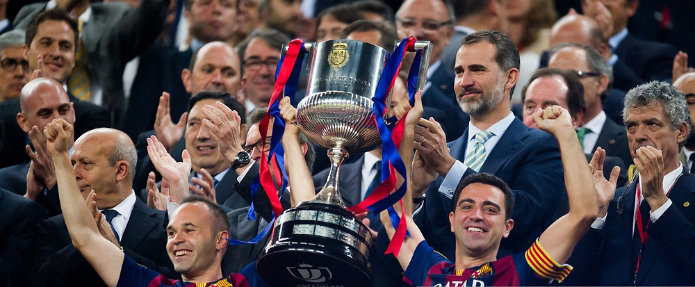 Xavi Hernandez won eight LaLiga titles and lifted four Champions Leagues during his time at the Nou Camp. [Getty]