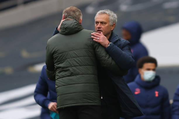 Mourinho embraces Solskjaer [GETTY]