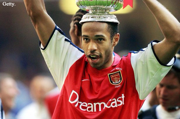 Arsenal all-time highest goalscorer Thierry Henry