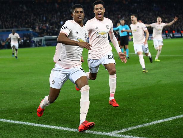 Rashford celebrates his late winner (Image: Getty Images)