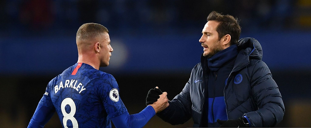 Lampard (L) replaced Maurizio Sarri at the Chelsea FC helm last summer. [Getty]