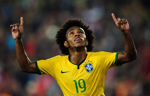 Chelsea winger Willian flew home before COVID-19 shutdown. [AFP/Getty]