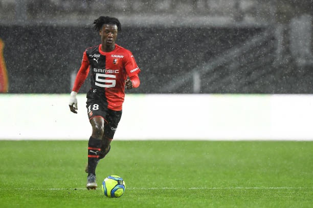 Eduardo Camavinga of Rennes. [Getty]
