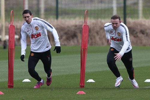 Angel di Maria [left] and Rooney [right]