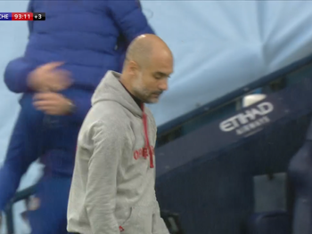 Guardiola and Sterling react after Chelsea win Man City.