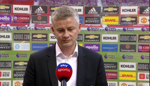 Solskjaer is not sure there'll be funds to invest in the United squad. [Sky Sports Screen Shot]