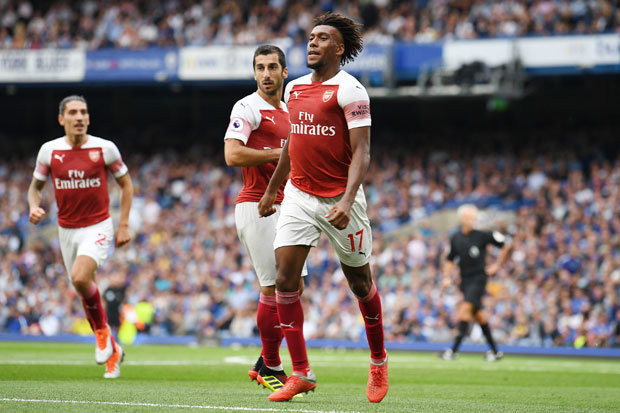 Arsenal Alex Iwobi Unai Emery. [Getty]