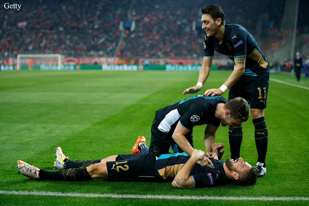 Ramsey, Ozil and Giroud.