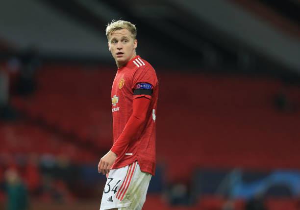 """Manchester United players have been accused of """"overlooking"""" Donny van de Beek [Getty]"""